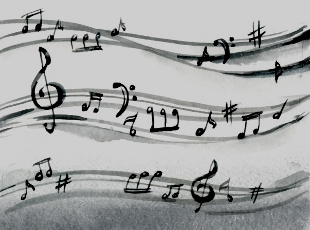fondo-acuarela-pentagrama-notas-musicales